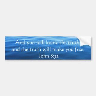 Adesivo Para Carro Citações cristãs inspiradas - 8:32 de John