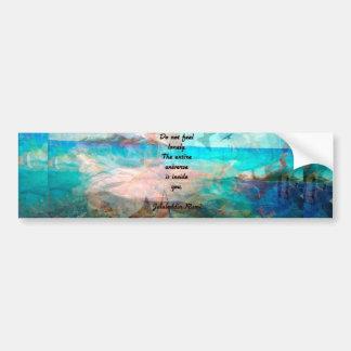 Adesivo Para Carro Citações da inspiração de Rumi sobre o universo