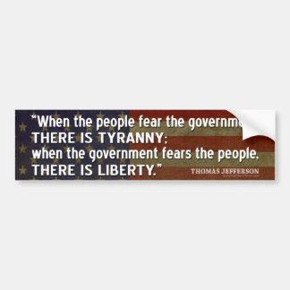 Adesivo Para Carro Citações de Jefferson: Liberdade contra a tirania