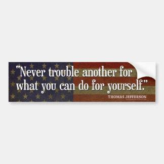 Adesivo Para Carro Citações de Jefferson: Nunca incomode outros para