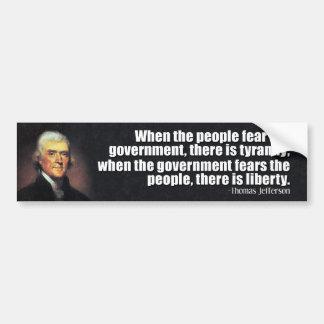 Adesivo Para Carro Citações de Thomas Jefferson