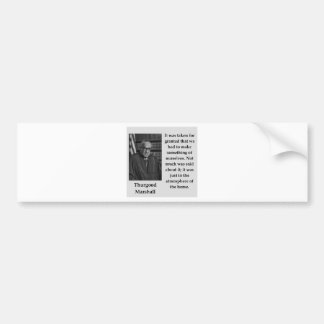 Adesivo Para Carro Citações de Thurgood Marshall