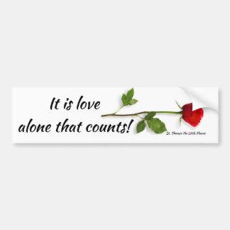 Adesivo Para Carro Citações do St. Therese no amor