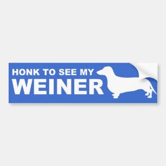 Adesivo Para Carro Citações engraçadas do cão de Weiner (Dachshund)