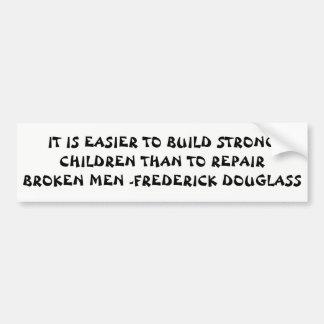 Adesivo Para Carro Citações fortes de Douglass das crianças da