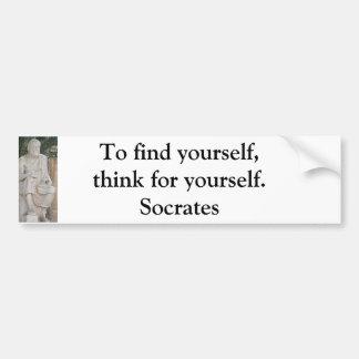 Adesivo Para Carro Citações inspiradas de Socrates