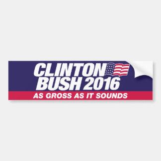 Adesivo Para Carro Clinton Bush 2016