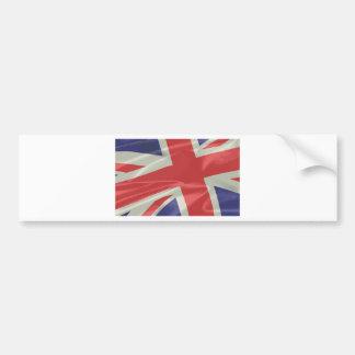 Adesivo Para Carro Close up de seda da bandeira de Union Jack