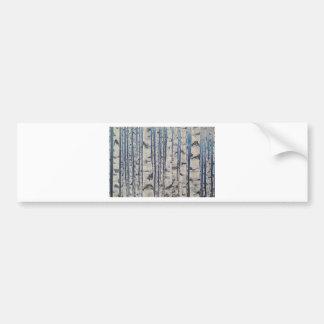 Adesivo Para Carro Código Morse das árvores de vidoeiro
