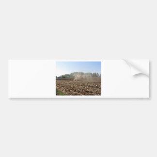 Adesivo Para Carro Colheita do milho da colheita mecanizada no campo