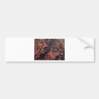 Adesivo Para Carro colisões e protuberâncias na rocha vermelha
