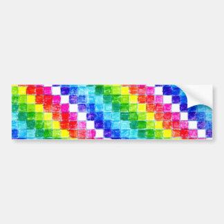 Adesivo Para Carro Colorido em quadrados do papel de gráfico