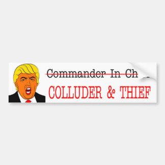 Adesivo Para Carro Comandante de COLLUDER & de THIEF-NOT - dentro -