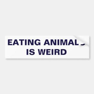 Adesivo Para Carro Comer animais é estranho