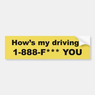 Adesivo Para Carro Como meu está conduzindo? *** DE F VOCÊ