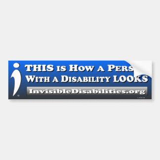 Adesivo Para Carro Como uma inabilidade da pessoa w/a OLHA -