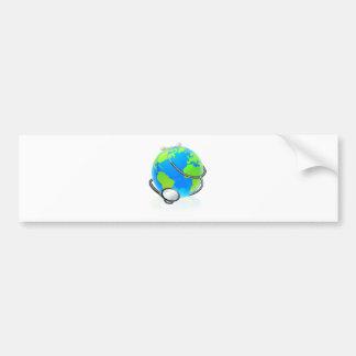 Adesivo Para Carro Conceito da saúde do globo da terra do