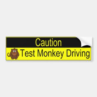 Adesivo Para Carro Condução do macaco do teste do cuidado