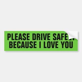 Adesivo Para Carro conduza com segurança