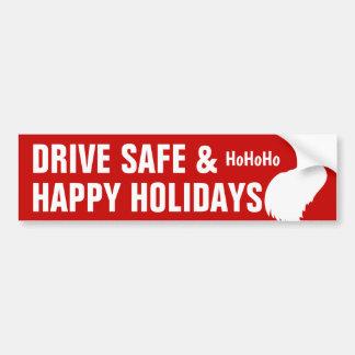 Adesivo Para Carro Conduza o cofre forte & boas festas