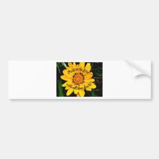 Adesivo Para Carro Confiança no senhor Brilhante Amarelo Flor