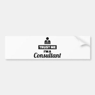 Adesivo Para Carro Confie que eu mim é um consultante