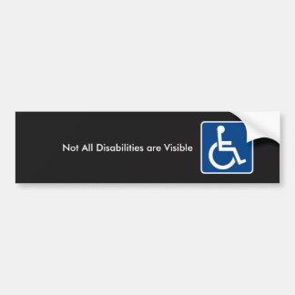Adesivo Para Carro Consciência invisível da inabilidade