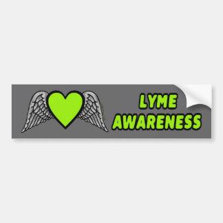 Adesivo Para Carro Coração/asas… Lyme