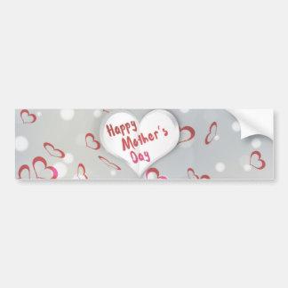 Adesivo Para Carro Coração de papel dobrado dia das mães -