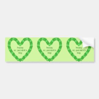 Adesivo Para Carro Coração do Dia de São Patrício