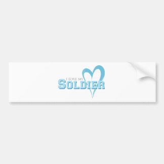 Adesivo Para Carro Coração Scribbled azul - amor de I meu soldado