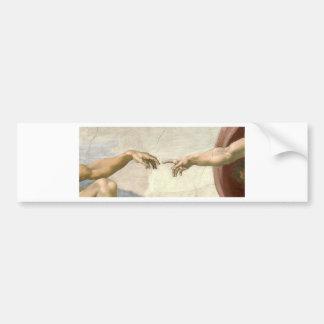 Adesivo Para Carro Criação das mãos de Adam - Michelangelo