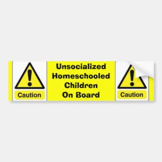 Adesivo Para Carro Crianças de Homeschooled do cuidado