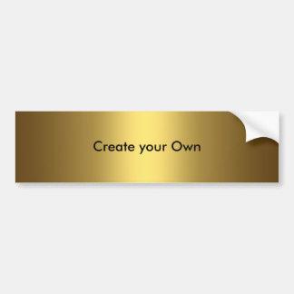 Adesivo Para Carro Criar seu próprio ouro do autocolante no vidro tra