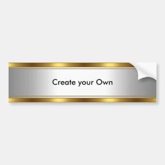 Adesivo Para Carro Criar seus próprios branco & ouro do autocolante n