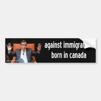 Adesivo Para Carro cruz de ted - contra a imigração