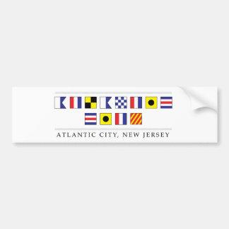 Adesivo Para Carro Cumprimentos de Atlantic City