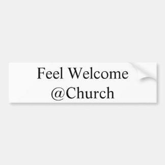 """Adesivo Para Carro Da """"etiqueta do @Church bem-vindo sensação"""""""
