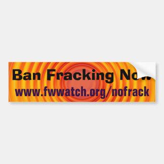 Adesivo Para Carro Da proibição de Fracking autocolante no vidro