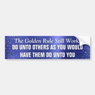 Adesivo Para Carro Da regra de ouro os trabalhos ainda