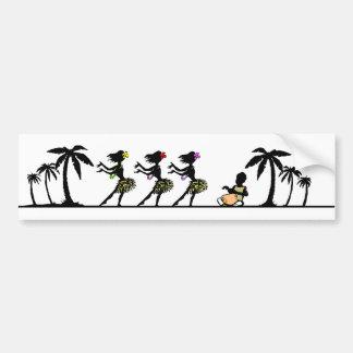 Adesivo Para Carro Dançarinos tropicais de Hula da ilha