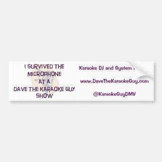"""Adesivo Para Carro Dave a cara do karaoke """"eu sobrevivi"""" a"""