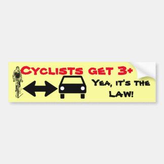 Adesivo Para Carro Dê a ciclistas a Espaço-Parte a estrada