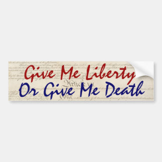 Adesivo Para Carro Dê-me a liberdade ou dê-me a morte