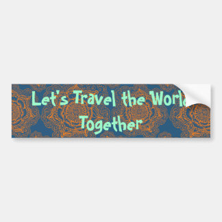 Adesivo Para Carro Deixe-nos viajar junto o mundo