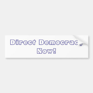 Adesivo Para Carro Democracia direta agora!