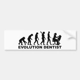 Adesivo Para Carro Dentista da fêmea da evolução