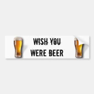 Adesivo Para Carro Desejo você era cerveja - autocolante no vidro