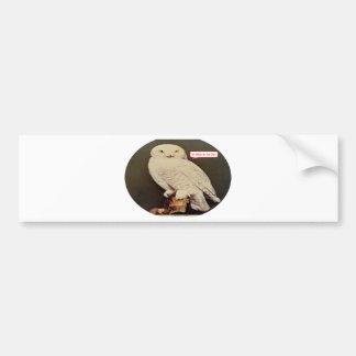 Adesivo Para Carro desenho branco da coruja