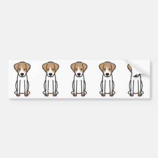 Adesivo Para Carro Desenhos animados do cão de Jack Russell Terrier